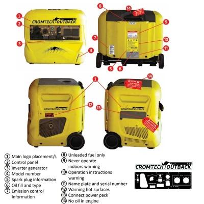Cromtech outback portable petrol Generator